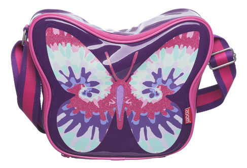a3ad2dad3a Zoom Pink and Purple Butterfly Lunch Bag