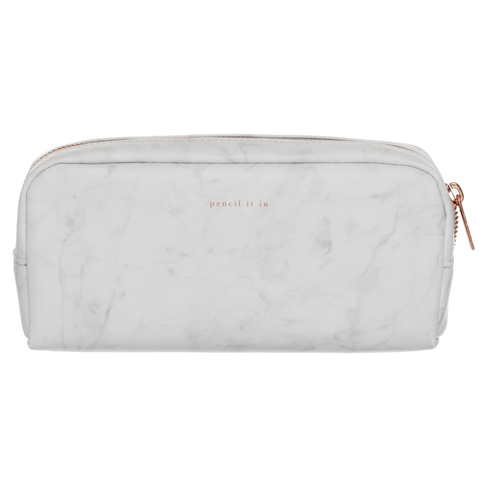 6a2cd32b498d86 WHSmith Moderno Woman Marble Effect Chunky Pencil Case