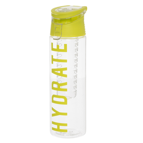 a83df6b1a4 WHSmith Lime Green Hydrate Fruit Infuser Water Bottle