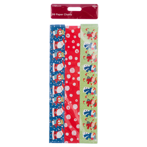 Christmas Paper Chains Uk.Whsmith Kids Festive Christmas Paper Chains Pack Of 6