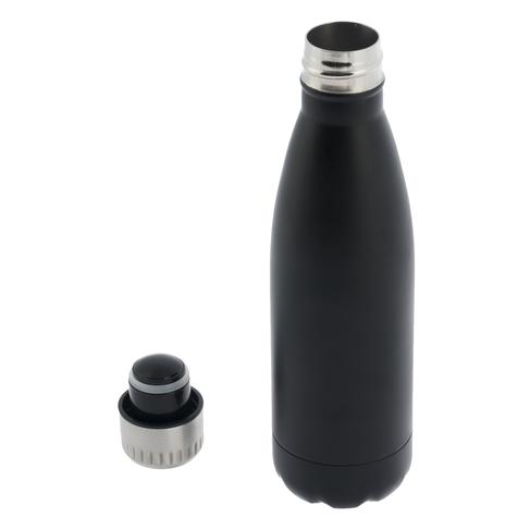 d7e272afaa WHSmith Black Matt 500ml Stainless Steel Insulated Water Bottle ...