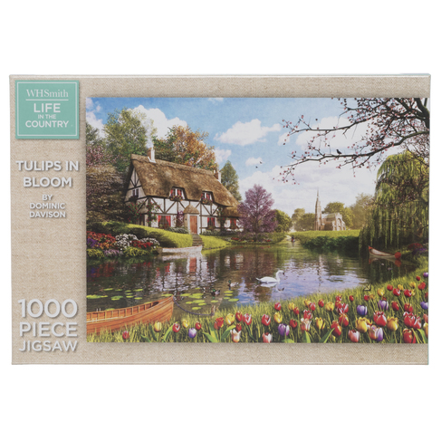 8948944acdb7 WHSmith Life In The Country Tulips In Bloom 1000 Piece Jigsaw Puzzle