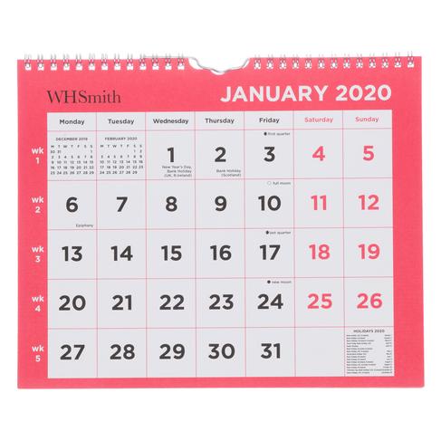 Coin Show Calendar 2020.Whsmith 2020 Commercial Calendar Month To View