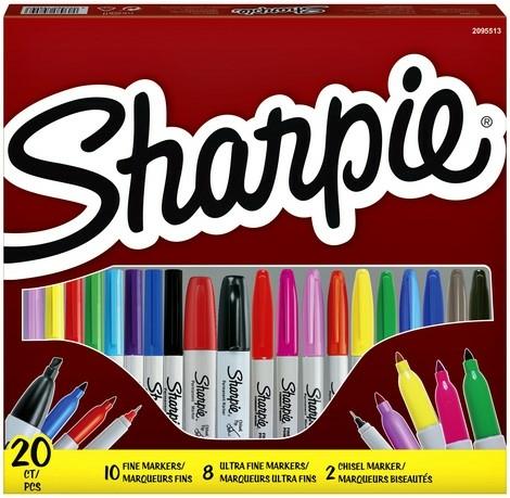 Sharpie 20 Piece Assorted Marker Set (Pack of 20)