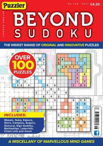 Puzzler Media Beyond Sudoku No 108 Special Issue magazine
