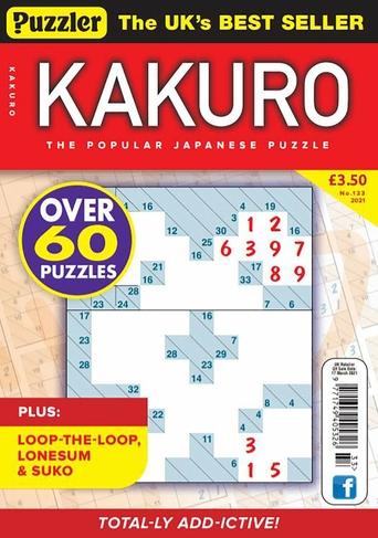 Puzzler Media Kakuro No 133 Special Issue magazine
