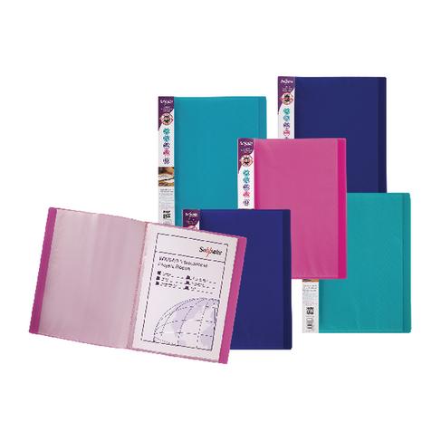 20 Pockets Pack of 10 Assorted Colours Rapesco A4 0916 Flexi Presentation Display Book