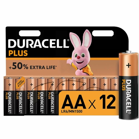 Duracell Plus Power Batteries Batteries AA (Pack of 12)