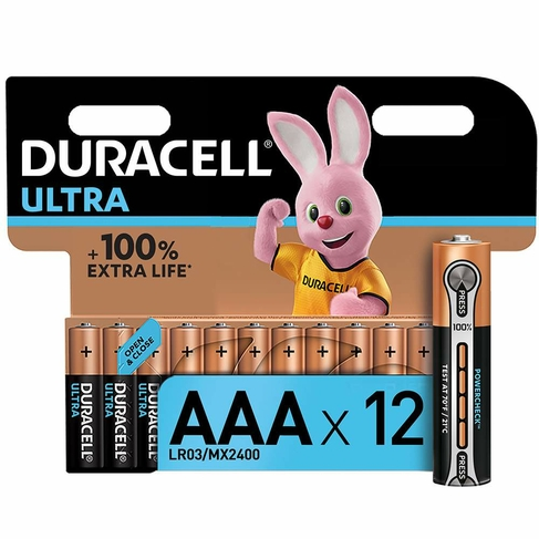 Duracell Ultra Power Batteries Batteries AAA (Pack of 12)
