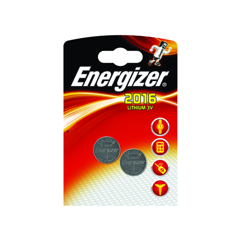 Energizer 2016/CR2016 Lithium Speciality Batteries (2 Pack) 626986