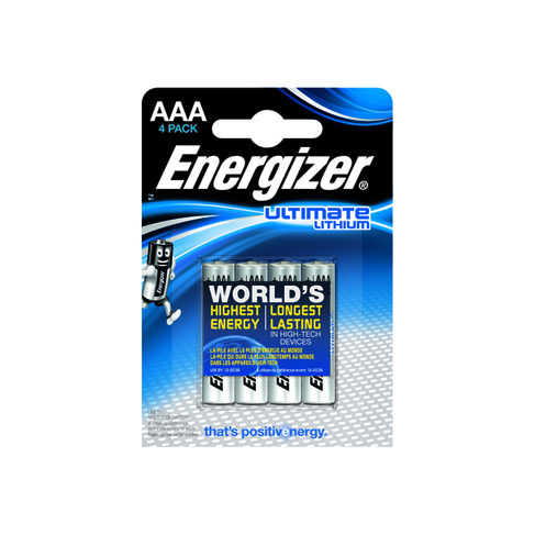 Energizer AAA Ultimate Lithium Batteries (4 Pack) 632965