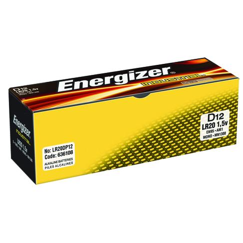 Energizer Size D Industrial Batteries (12 Pack) 636108
