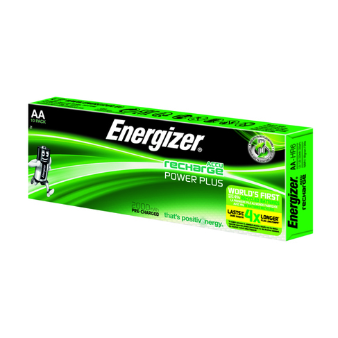 Energizer Rechargable AA Batteries 2000mAh (10 Pack) 634354