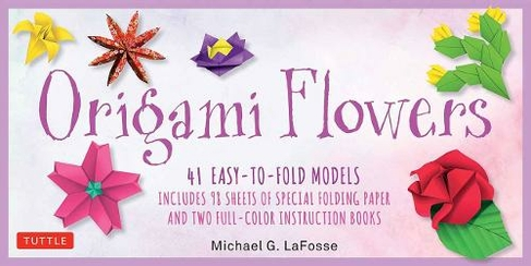 Origami Flowers Kit Great For Kids And Adults 41 Easy To Fold Models Includes 98 Sheets Of Special Folding Paper
