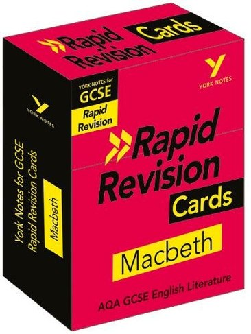 York Notes for AQA GCSE (9-1) Rapid Revision Cards: Macbeth