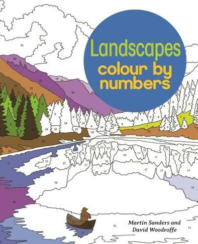Landscapes Colour By Numbers By David Woodroffe Whsmith