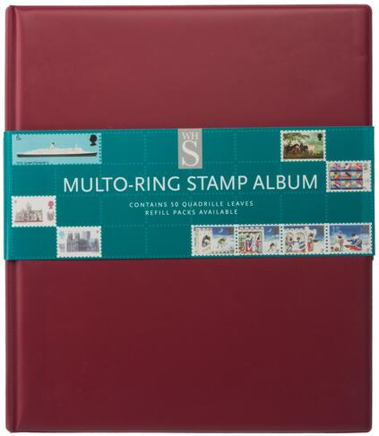 WHSmith Assorted Colour Multo-Ring Stamp Album